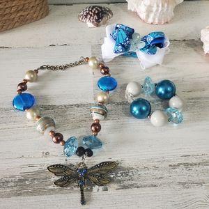 Girls Bubble Gum Necklace Set